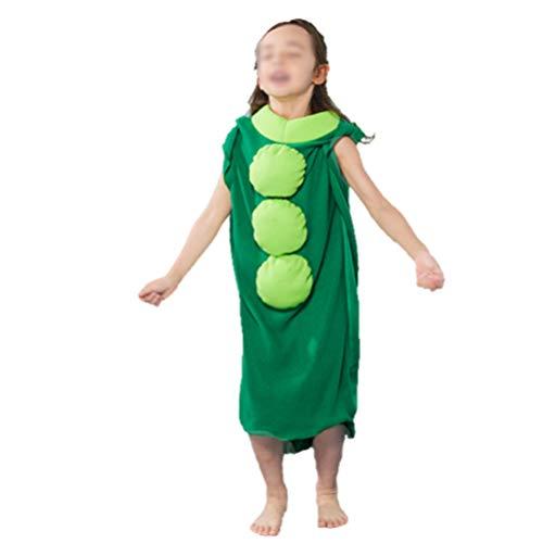 Toyvian Disfraz de guisante para nios Guisante en la vaina Verduras Disfraz de frutas Disfraces decorativos Trajes de escenario Ropa para nios Talla m