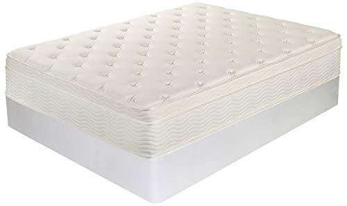 Night Therapy Spring 13 Inch Deluxe Euro Box Top Mattress and BiFold Box Spring Set, Queen