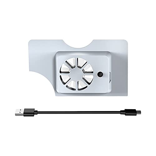 gotor USB Cooling Fan Heat Sink Holder Stand for Switch OLED Model (White)