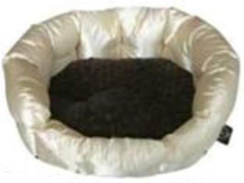 Gloria Glossy Round Dog Bed (M) (gold)