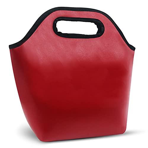 Gloppie Bolsas de almuerzo para mujer, mini enfriador de piel sintética a prueba de fugas, pequeña caja de almuerzo aislada para el trabajo, viajes, picnic rojo