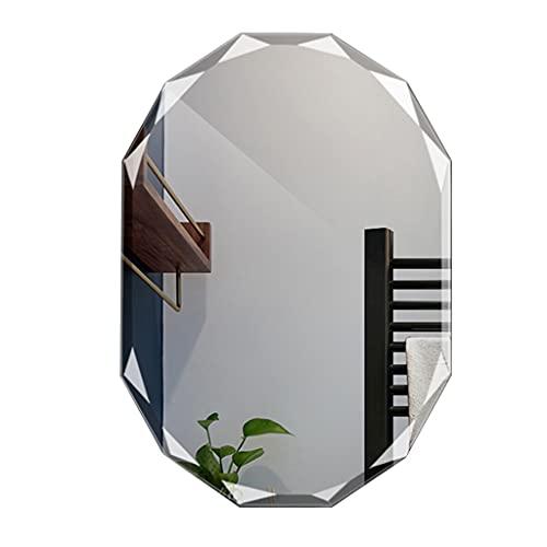 Muur Spiegel Badkamer Spiegels Nagelvrije Muur Opknoping Muur Frameloze Spiegel Diamant Rand Ontwerp Make-up Spiegel…