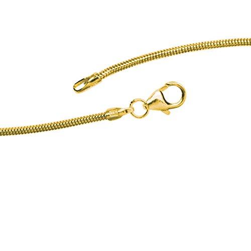 JOBO Schlangenkette 333 Gelbgold 1,4 mm 50 cm Gold-Halskette