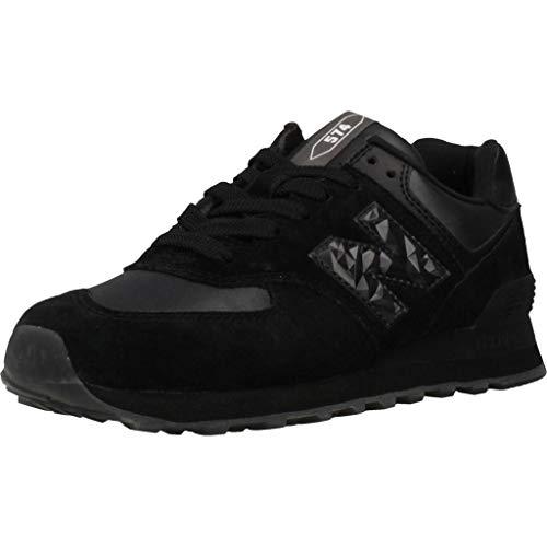 New Balance 574 Wnv-Sneaker Damen Schuhe Sport-Schuh-Turnschuhe, 37, Schwarz