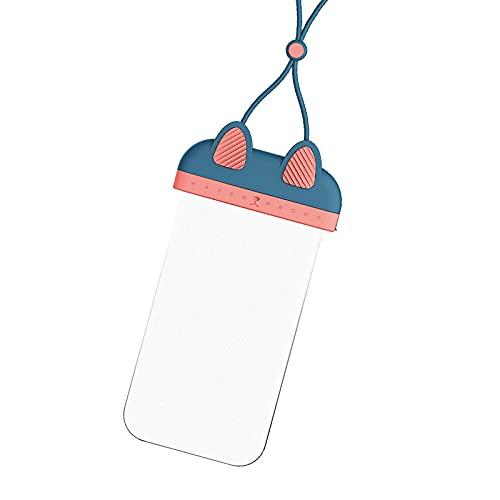 SDFGDSG Funda sumergible para móvil transparente, funda impermeable para smartphone impermeable Dry Bag IPx8, funda sumergible para smartphone menos de 7 pulgadas