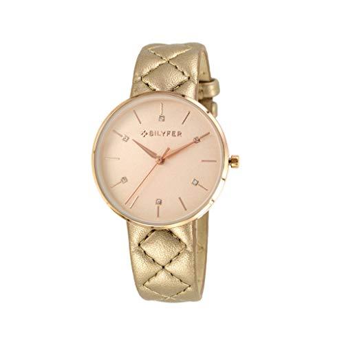 Reloj Bilyfer para Mujer con Correa en Beige y Pantalla en Beige 1F651-CU
