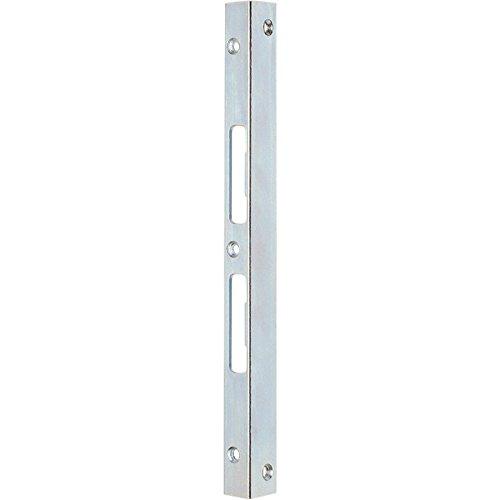 IKON Winkel-Schließblech ohne Anker - 9M54 - verzinkt/silber - 490x25x25mm - für überfälzte Türen geeignet