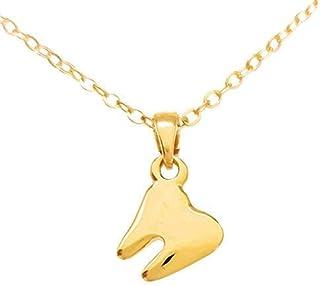 Collar de Muela - Chapa de Oro Calidad Premium - Regalo para dentistas - Lic. Odontología - Elegantia Jewelry