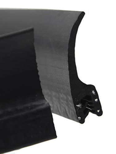 DF7 Dichtungsprofil von SMI-Kantenschutzprofi mit Dichtung oben aus EPDM Moosgummi - einfache Montage selbstklemmend ohne Kleber - Klemmbereich 1,5-3,0 mm (1 m)