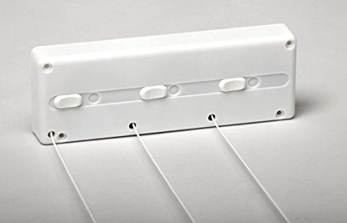 SECATOT Tendedero, Automático pared Blanco, 3 cuerdas