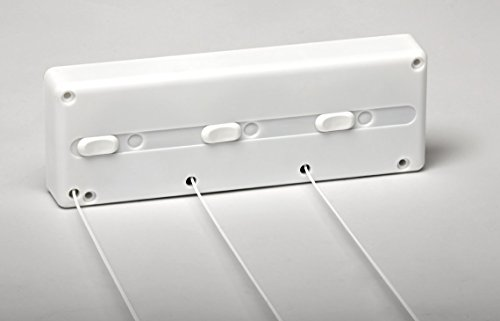 SECATOT Tendedero, Automático pared Blanco, 3 cuerdas