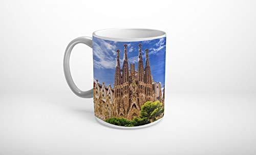 Stufffactory Barcelona Spanien Sagrada Familia Tasse Spruch Motiv Fototasse Kaffeebecher T0619