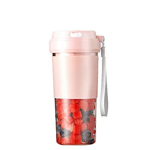 Draagbare glazen smoothie-blender, USB oplaadbare persoonlijke blender Juicer-beker, enkele serveer-reismixer voor shakes en smoothies, met 1400 mAh oplaadbare batterij