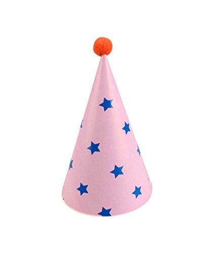 Blancho [Étoiles] Fournitures 7Pcs d'anniversaire d'enfants Hat Party Party Hat