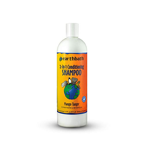 Earthbath 2-in-1 Conditioning Shampoo for Pets, Mango Tango, 16 oz – Dog Shampoo and Conditioner – Conditions & Detangles – Made in USA
