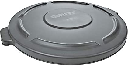 Rubbermaid Commercial Products 32-Gallon Brute Flat Container Lid, 32 Gallon, Gray