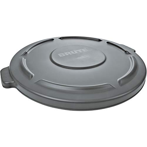 Rubbermaid Commercial Products FG263100GRAY 32-Gallon Brute Flat Container Lid, 32 Gallon, Gray