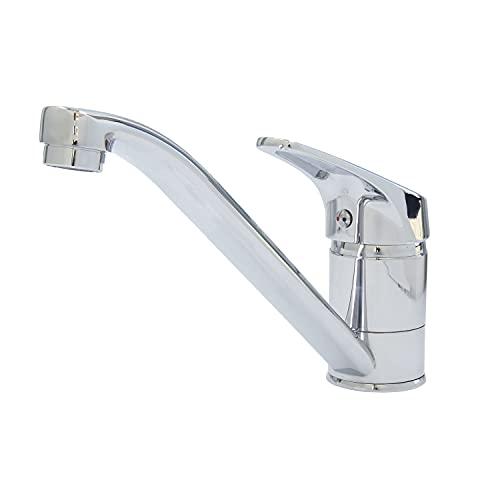 FerrestockÚRBEL FSKFGC005grifomonomandopara fregadero,caño horizontal, cartucho cerámico de 40mm,fabricado en zinc y latón, incluye latiguillos y soportes de fijación
