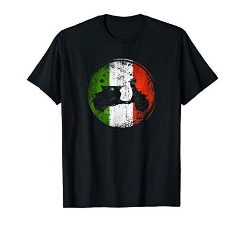 Bandera de Italia de scooter de motor italiano vintage Camiseta
