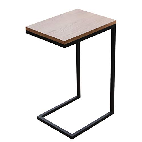 CSQ Wooden Coffee Table, Single Layer Metal Bracket Office Desk Home Apartment Living Room Book Room Reading Desk (Color : A, Size : 40 * 30 * 60CM)