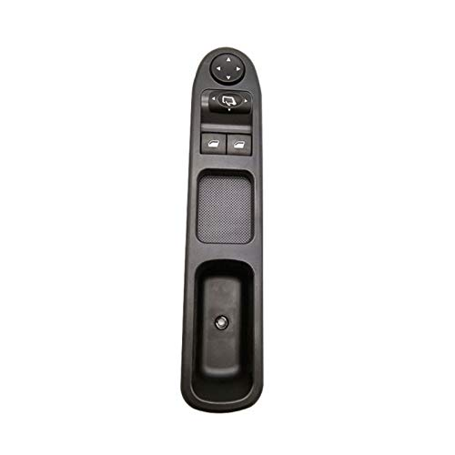 GOODNESS XYXYMY Interruptor de Control de energía del Lado del Conductor Delantero Izquierdo Ajuste para Peugeot 307 96351622xt (Color Name : Black)