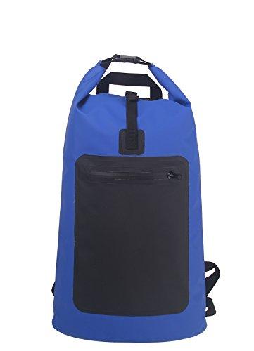 Original sinotop Mochila CA 22L Barrel Bag exterior Mochila de lona resistente al agua para camiones Deportes, Bicicleta, senderismo, trekking, protege contra la lluvia, agua, arena, humedad, azul