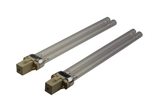 DuraBulb UV-licht (ultraviolet) reservelamp vijverlamp UVC filter en luchtreiniger Twin Pack 11W