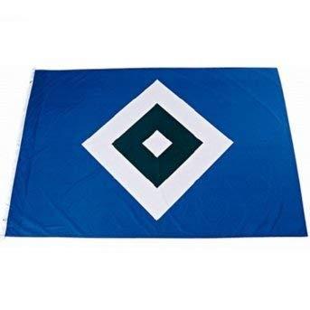 HSV Hamburger SV Fahne/Hissfahne ** Raute ** 120 x 80 cm mit 2 Ösen