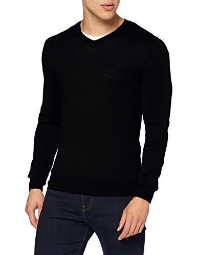 Celio SEMERIV Pullover Sweater, Black, M Mens