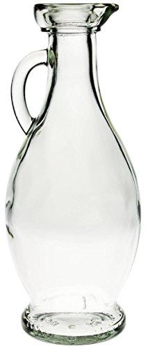 Olio di caraffa in vetro trasparente con tappo di sughero, 500ML