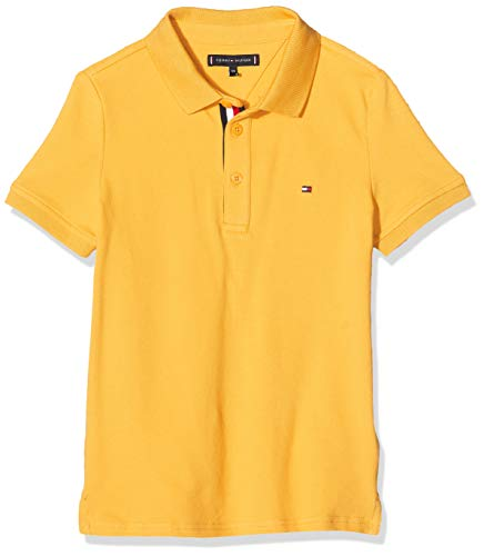 Tommy Hilfiger Jungen Essential Slim Fit Polo S/s Poloshirt, Gelb (Yellow Zbc), 92/98 (Herstellergröße: 92)