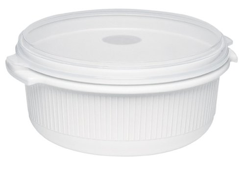 Emsa 450251200 Mikrowellentopf mit Deckel, 2,5 Liter, Kunststoff, Weiß, Micro Family