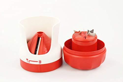 Tupperware Spiralino Profi-Chef Spaghetti Gemüseschneider Zoodles Chef rot weiß 38110