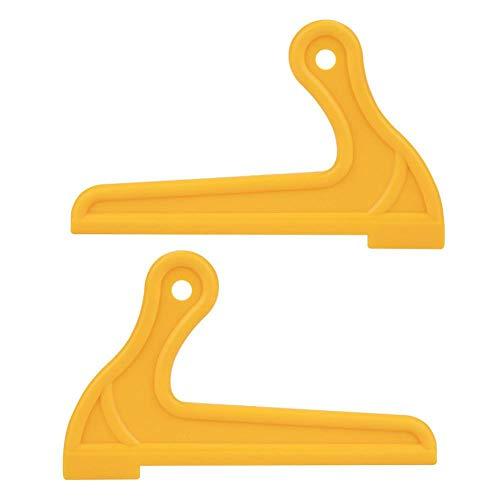 2 st bordssåg tryckpinnar, bärbar V-typ träsåg tryckpinnar för snickare bord arbetsblad router skydda träarbetare - gul
