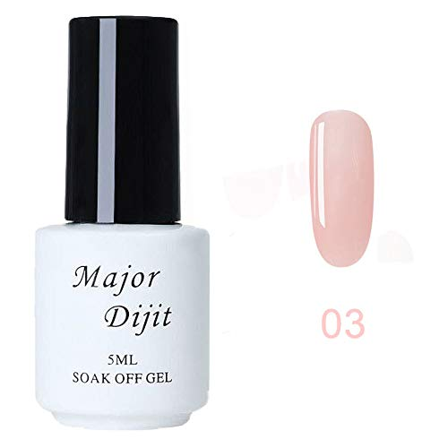 Vernis à Ongles pour Femmes Vernis Gel Semi Permanent Nail Art gel Polish Yeux Lot Nude Populaire Débutant Kit TOP Coat BASE Vernis Soak Off UV 5ML (03#)