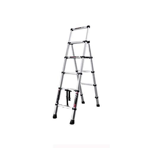 J-Escalera de Tijera Portátil Paso Las escaleras plegables escaleras de mano y colgantes hogar taburete de paso telescópica multifuncional antideslizante hacer la limpieza Algo Escalera Portátil