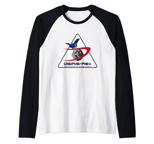 Insignia de la misión Osiris REx NASA Camiseta Manga Raglan