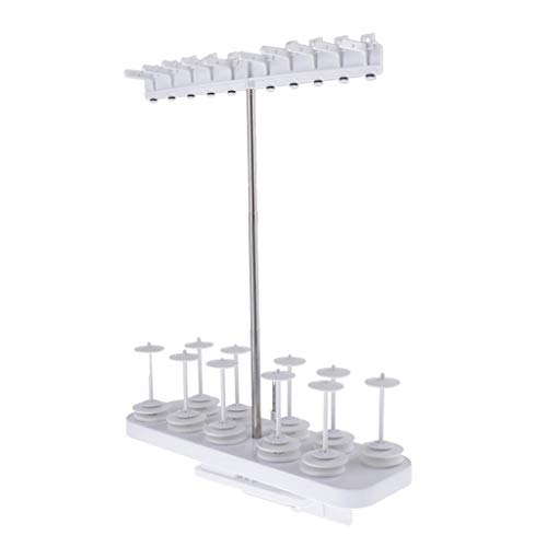 Best Prices! dailymall 10-Spool Thread Stand for Brother SA503 - Thread Locking System Keeps Loose E...