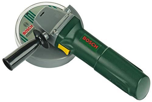 Theo Klein 8426 Bosch Winkelschleifer I Batteriebetriebene Licht- und Soundeffekte I Rotierende Scheibe I Maße: 25 cm x 8 cm x 17 cm I Spielzeug für Kinder ab 3 Jahren