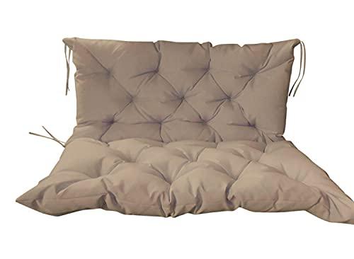 Xpnit Gartenbank-Sitzkissen mit Rückenlehne für 2- und 3-Sitzer, wasserdicht, für Gartenmöbel, 100 x 100 x 8 cm, Beige