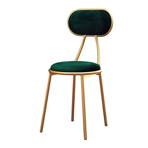 Taburete de hierro forjado dorado para maquillaje, taburete de bar, de tela, silla de comedor, taburete alto, de ocio, silla alta