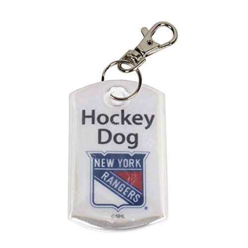 Finnex Reflectors Official NHL New York Rangers Hockey Dog Reflector | High Visibility Safety Reflector Provides Night Time Safety While Running or Walking with Your Dog