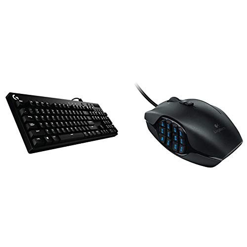 Logitech G610 Orion Red Backlit Mechanical Gaming Keyboard & G600 MMO Gaming Mouse, RGB Backlit, 20 Programmable Buttons