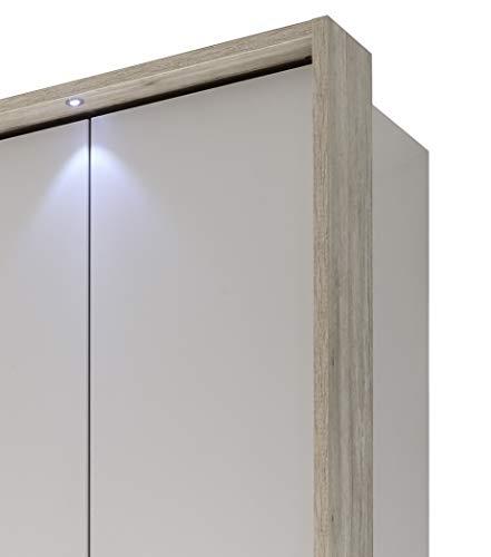 """Stella Trading Volo Passepartout für 4-trg. Kleiderschrank \""""Volo\"""" inkl. Beleuchtung, Eiche San Remo, (B/H/T) 197 x 230 x 23 cm"""