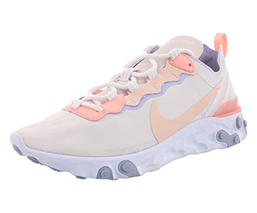 Nike W React Element 55 [BQ2728-601] Women Casual Shoes Pale Pink/Washed Coral/US 8.0