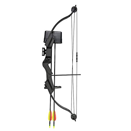 17-21 lb Black Archery Hunting Compound Bow +Quiver +Armguard +2 24' Arrows 55 40 30 25 lbs Crossbow