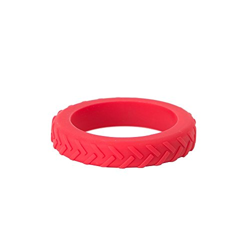 Chewigem Child Chew Bracelet. Red Textured Anxiety Chew and Calming Aid. Strong Sensory Chew and Anxiety Bracelet. Discreet Autism Chew Toys and Sensory Processing Aid Helps Improve Focus.