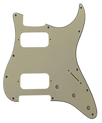 Guitar Parts For Fender Double Fat HH Strat Humbucker Guitar Pickguard (3 Ply Mint Green)