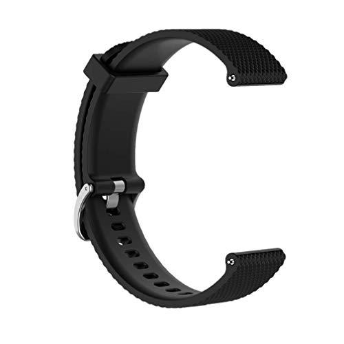 Huabao Silikon Ersatz Armband für Garmin Vivoactive 3/SUUNTO 3 Fitness/Garmin Vivomove HR (Schwarz, S(135-200mm))