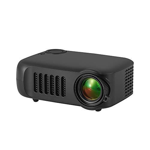 Proyector Mini, Proyector de Video para la Presentación de la Oficina de Cine en casa Proyector LCD Portátil A2000 HD 1080P Completo con HDMI, USB, AV y SD Compatible